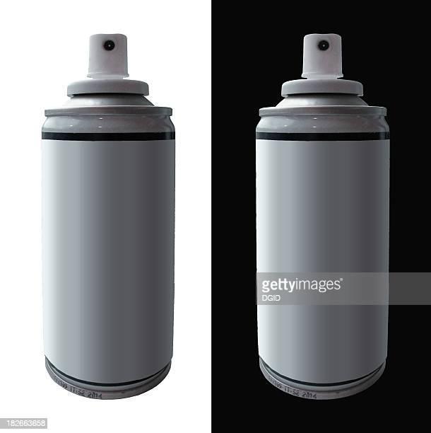 Spraycans sur arrière-plans