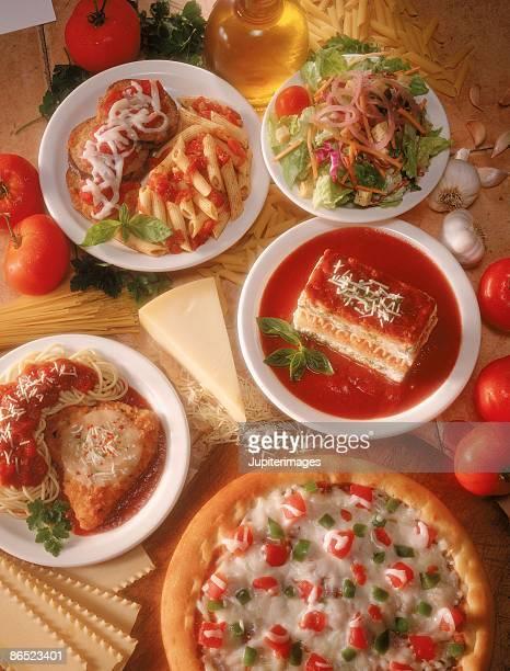 Spread of Italian food