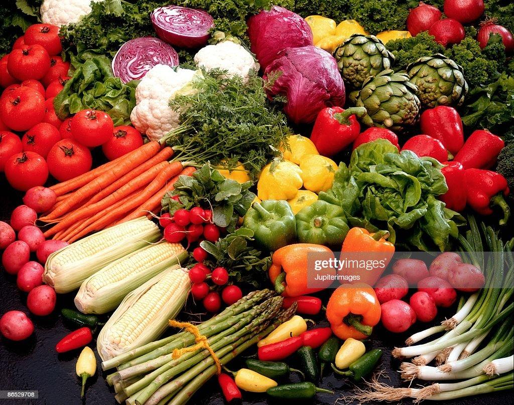 Spread of vegetables : Stock Photo