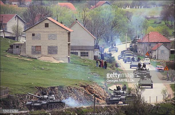 Spreading of Yugoslavian army In Yugoslavia On May 11 1991 Tanks in the villages of Lesticia and Sucia