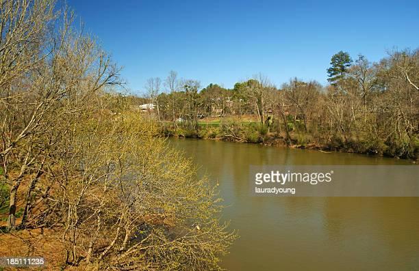 Spring Along Chattahoochee River in Georgia USA