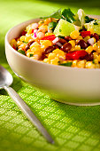 Spring backyard barbecue colorful corn salad