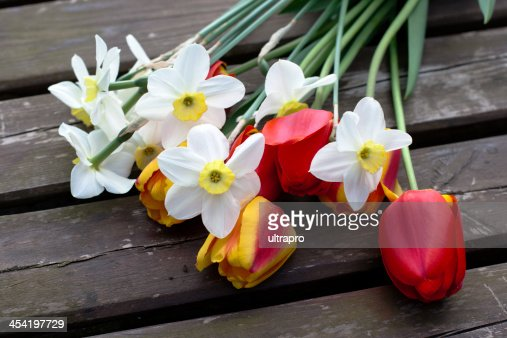 spring bouquet flowers : Stock Photo