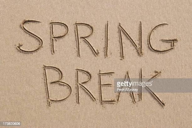 Spring Break plage de sable propre Message rédigées