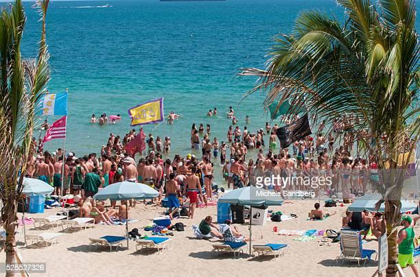 Spring Breakers celebrate StPatricks Day on Fort Lauderdale Beach
