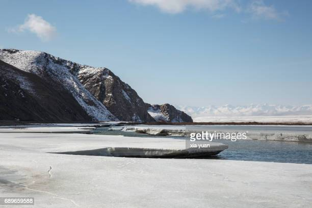 Spring breakup of ice in Kaidu River on Bayanbulak,China