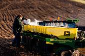 Spring corn planting