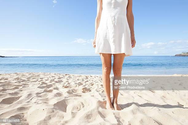 Spring dress on sandy beach