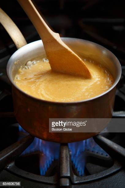 Spring dug parsnip soup by chef Gordon Hamersley is pictured at his home kitchen on May 5 2016