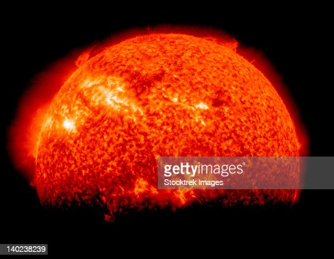 Spring eclipse as viewed from the Solar Dynamics Observatory. : Foto de stock
