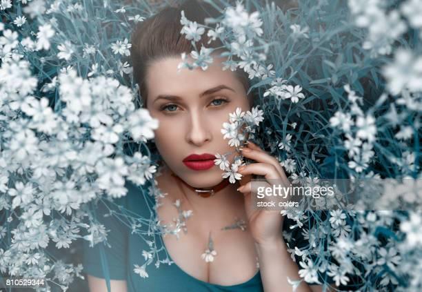 spring fairy woman portrait