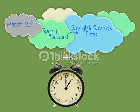 spring forward daylight savings time stock photo thinkstock