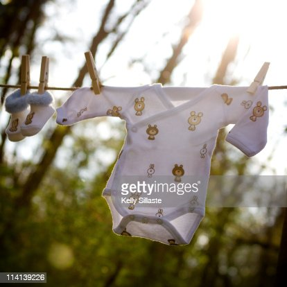 Spring fresh baby clothes