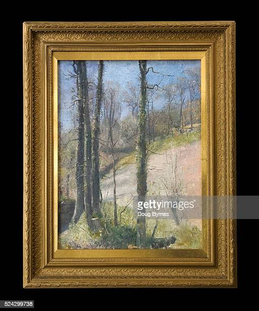 'Spring in Devon' painted in the UK Oil on canvas by the Australian Impressionist Tom Roberts in the 1890s Tom Roberts was one of the five most...