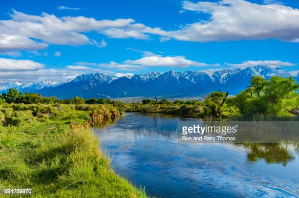 Spring in the Owens River Valley with California Sierra Nevada range, CA(P)