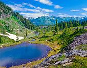 Alpine valley of Mt. Baker-Snoqualmie National Forest. Washington