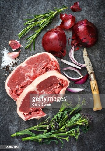 Spring lamb and vegetables