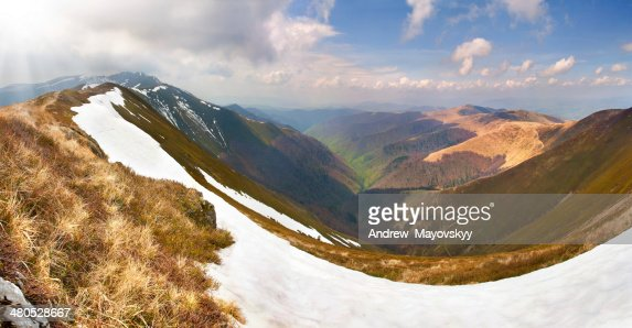 Spring landscape in the mountains : Stockfoto