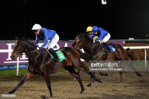 Spring of Fame ridden by Mickael Barzalona wins the Congratulations Champion Jockey Richard Hughes Betdaq Floodlit Stakes at Kempton Racecourse...