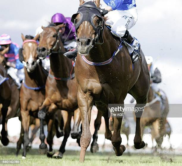 Spring Racing Carnival 2006 Jockey Dwayne Dunne rides Tawqeet to victory in the the 2006 Caulfield Cup at Flemington Racecourse 21 October 2006 THE...
