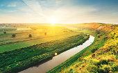 Spring river in the morning