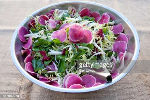 Spring salad with beets : Stock Photo