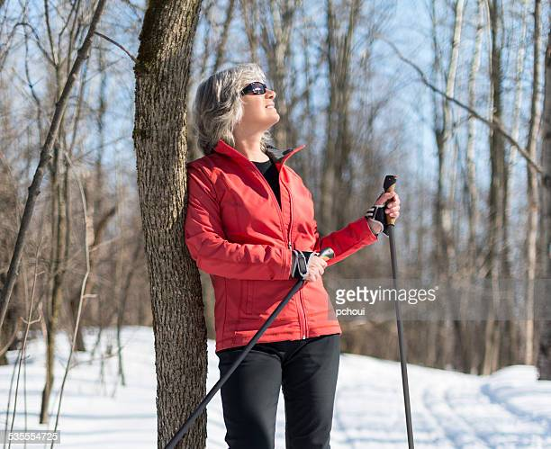 Spring skiing, woman, cross-country skiing