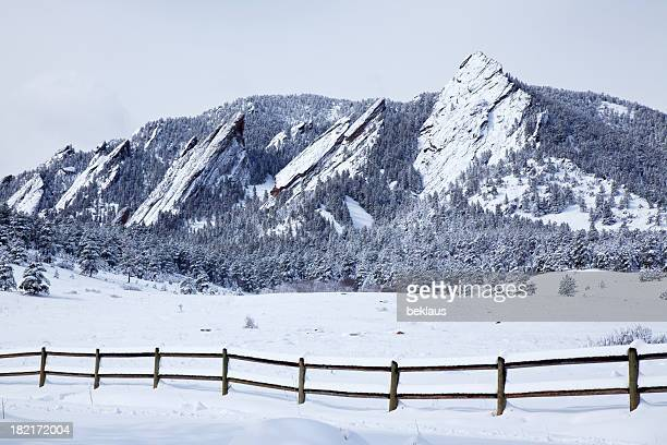 Spring Snow on Flatirons