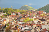 Spring view of Plovdiv hills in Bulgaria