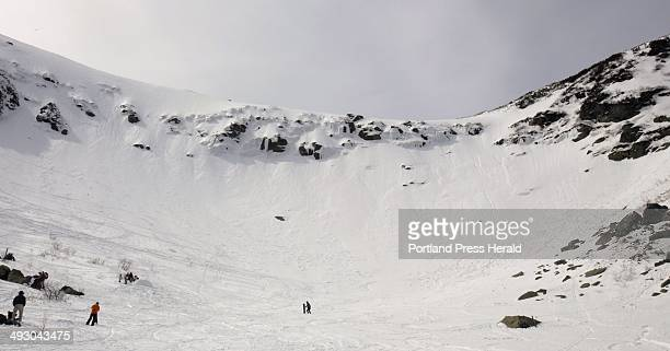 A spring weekend without crowds of skiers is an unusual site in Tuckerman's Ravine in New Hampshire On a typical spring weekend up to two thousand...