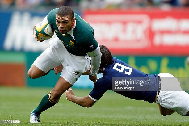AFRICA JUNE 12 Springbok wing Bryan Habana during the International match between South Africa and France at Newlands Stadium on June 12 2010 in Cape...