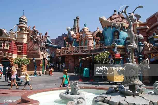 Springbrunnen mit DisneyFigur 'Disneyland Resort' Anaheim bei Los Angeles Kalifornien USA Amerika Nordamerika Vergnügungspark Freizeitpark Reise
