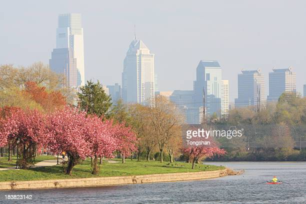 Springtime in Philadelphia city