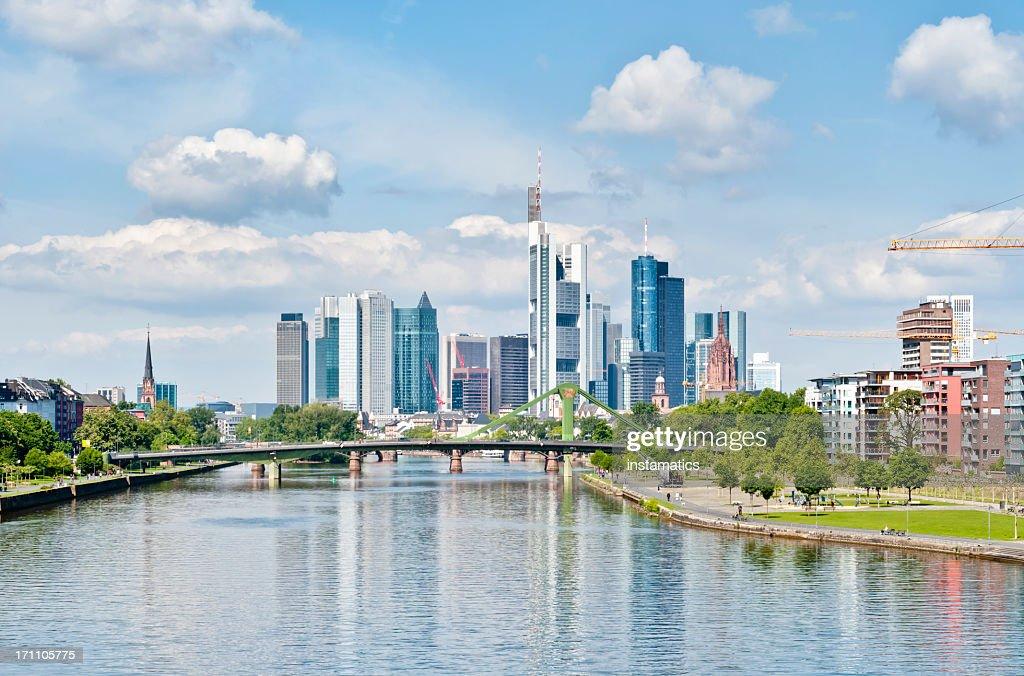 Springtime skyline of Frankfurt am Main