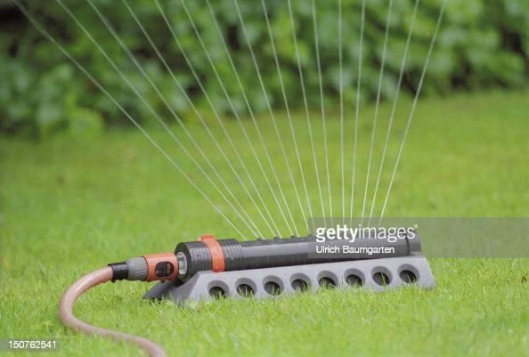 Sprinkler in operation
