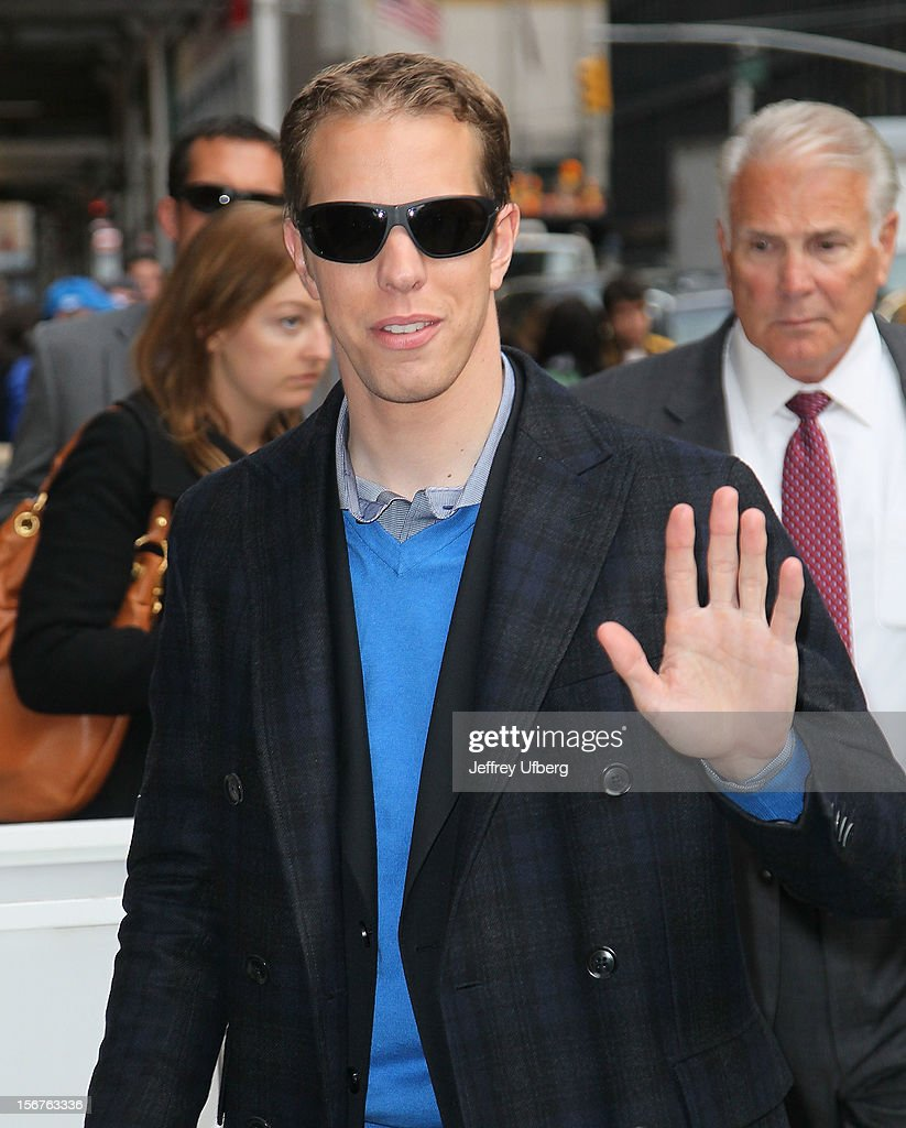Sprint Cup Champion <a gi-track='captionPersonalityLinkClicked' href=/galleries/search?phrase=Brad+Keselowski&family=editorial&specificpeople=890258 ng-click='$event.stopPropagation()'>Brad Keselowski</a> arrives to 'Late Show with David Letterman' at Ed Sullivan Theater on November 20, 2012 in New York City.