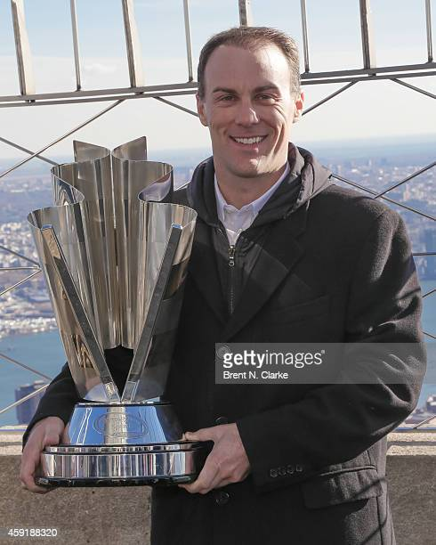 Sprint Cup Series Champion Kevin Harvick visits The Empire State Building on November 18 2014 in New York City