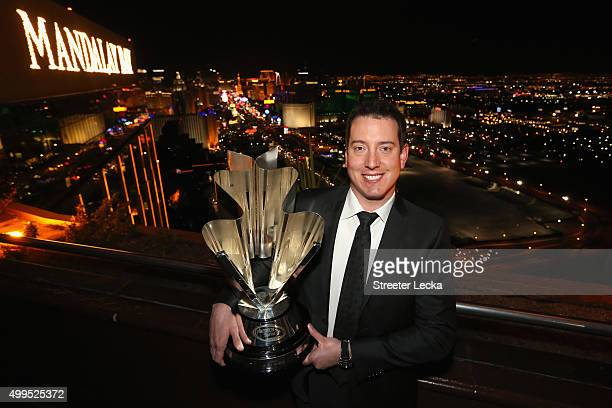 Sprint Cup Series champion Kyle Busch poses at the House of Blues Las Vegas Foundation Room inside the Mandalay Bay Resort and Casino on December 1...
