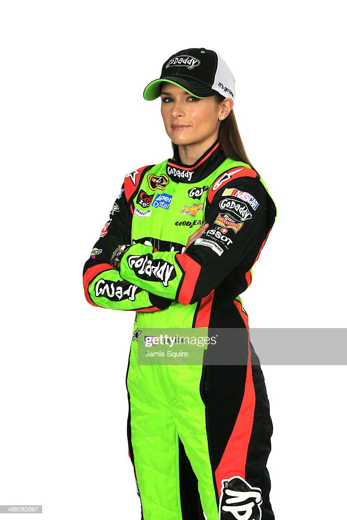 Sprint Cup Series driver <a gi-track='captionPersonalityLinkClicked' href=/galleries/search?phrase=Danica+Patrick&family=editorial&specificpeople=183352 ng-click='$event.stopPropagation()'>Danica Patrick</a> poses for a portrait during the 2014 NASCAR Media Day at Daytona International Speedway on February 13, 2014 in Daytona Beach, Florida.