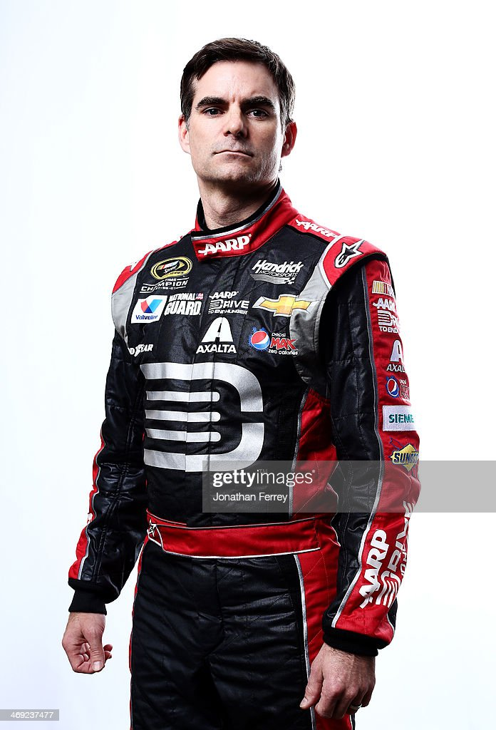 Sprint Cup Series driver Jeff Gordon poses for a stylized portrait during the 2014 NASCAR Media Day at Daytona International Speedway on February 13, 2014 in Daytona Beach, Florida.