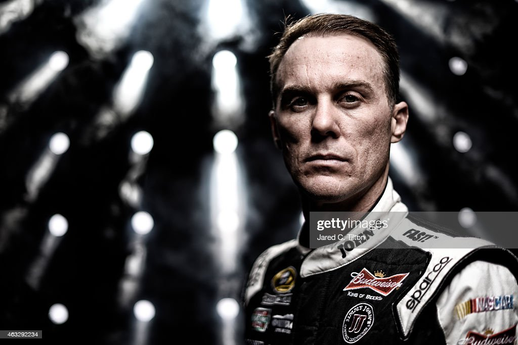 Sprint Cup Series driver <a gi-track='captionPersonalityLinkClicked' href=/galleries/search?phrase=Kevin+Harvick&family=editorial&specificpeople=209186 ng-click='$event.stopPropagation()'>Kevin Harvick</a> poses for a portrait during the 2015 NASCAR Media Day at Daytona International Speedway on February 12, 2015 in Daytona Beach, Florida.