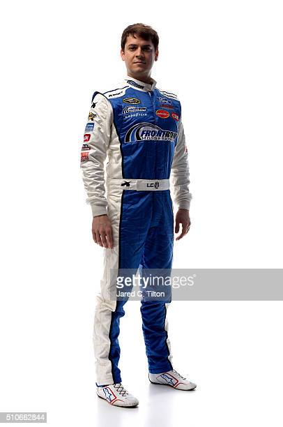 Sprint Cup Series driver Landon Cassill poses for a portrait during NASCAR Media Day at Daytona International Speedway on February 16 2016 in Daytona...