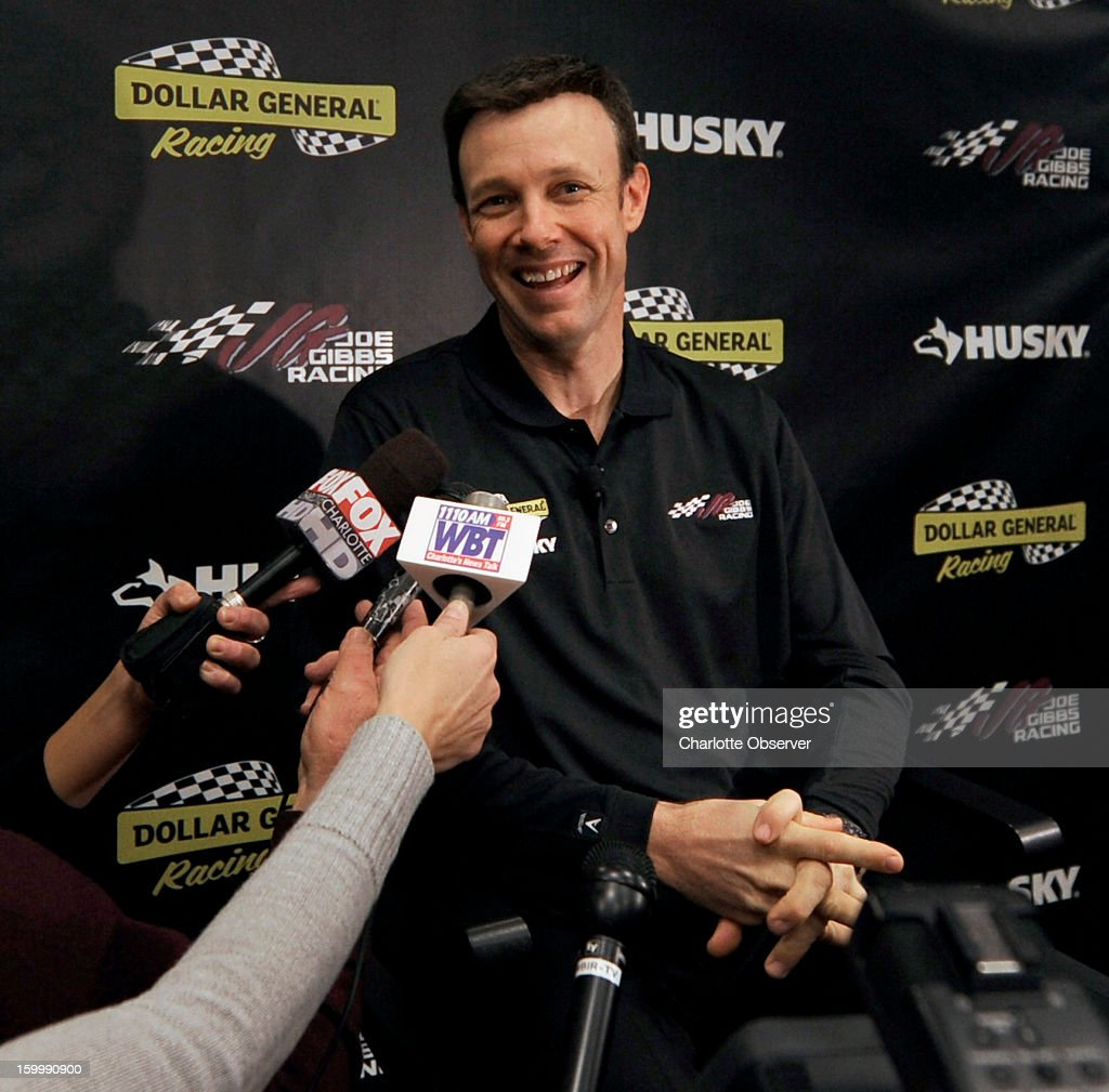 Sprint Cup Series driver Matt Kenseth is interviewed during a break out session at the Sprint NASCAR Media Tour on Thursday, January 24, 2013, at the NASCAR Hall of Fame in Charlotte, North Carolina.