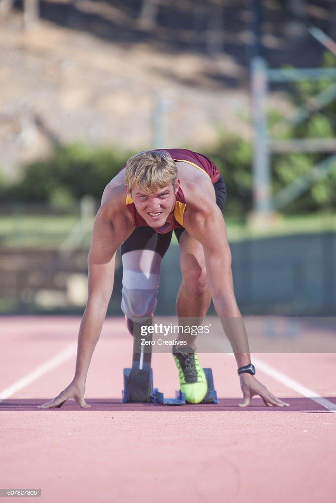 Sprinter in start position