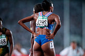 Sprinter MarieJose Perec representing France wins the 200meter run at the 1996 Atlanta Olympic Games