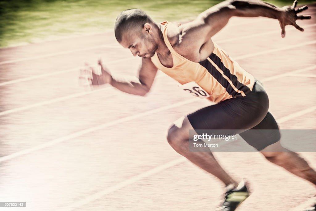 Sprinter racing on track