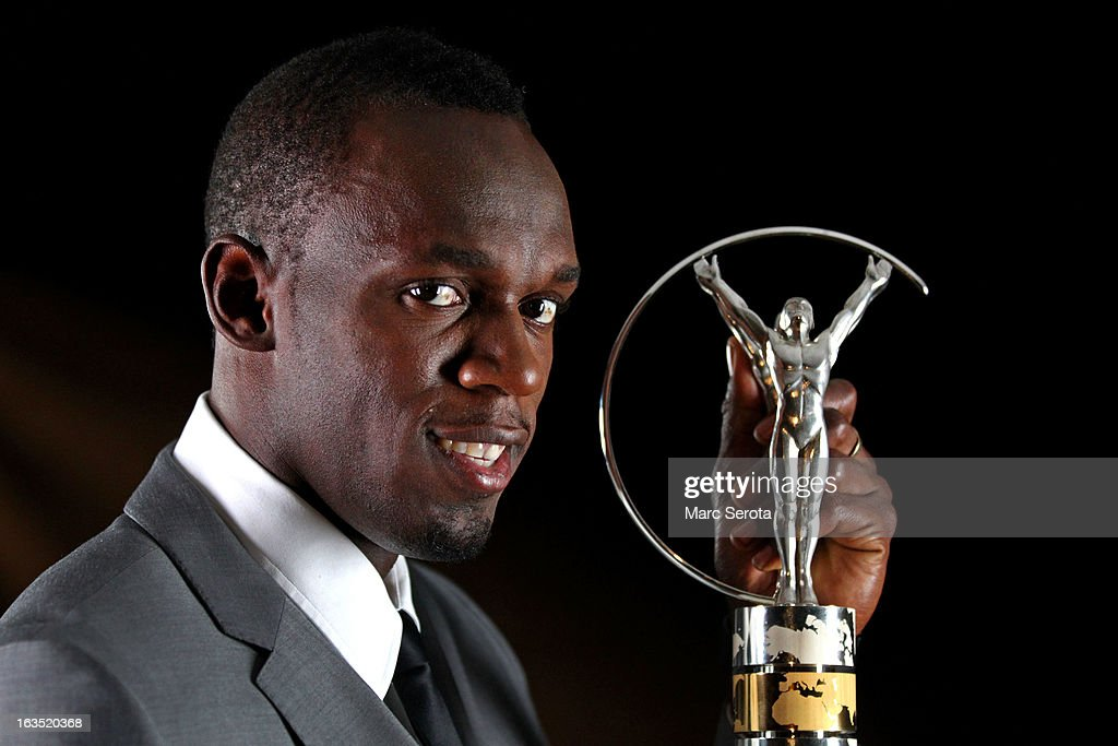 Sprinter Usain Bolt of Jamaica poses with the award for Laureus World Sportsman of the Year in the winners studio during the 2013 Laureus World Sports Awards at Theatro Municipal do Rio de Janeiro on March 11, 2013 in Rio de Janeiro, Brazil.