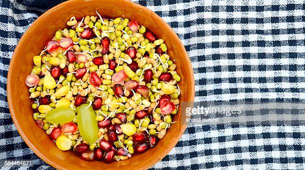 Sprouted beans and fruits salad, India