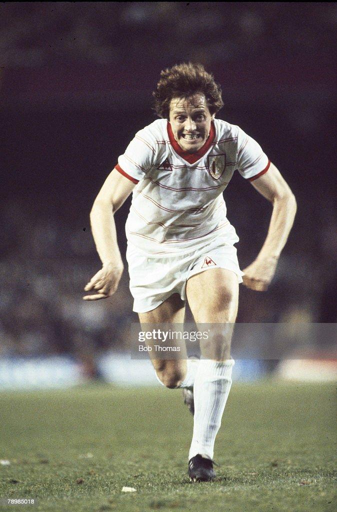 12th May 1982 European Cup Winners Cup Final Barcelona 2 v Standard Liege 1 Arie Haan Standard Liege midfielder who played international football for...