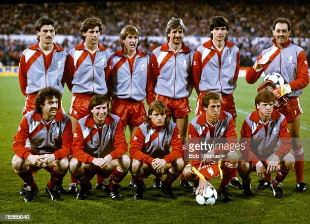 29th May 1985 European Cup Final in Brussels Liverpool 0 v Juventus 1 Liverpool team group before the game Back row leftright Ian Rush Jim Beglin...